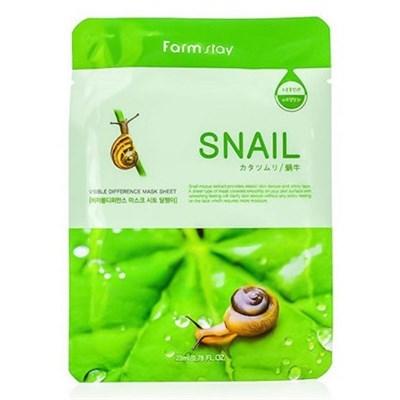 Тканевая маска с экстрактом улитки / Farm Stay Visible Difference Mask Sheet Snail - фото 4494