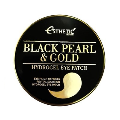 Патчи для глаз Esthetic House Black Pearl & Gold Hydrogel Eye Patch - фото 4560