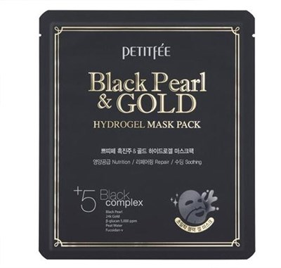 Маска для лица Petitfee Black Pearl & Gold Hydrogel Mask Pack / 5 шт - фото 4592