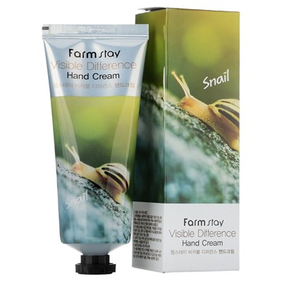Крем для рук Farm Stay Visible Difference Hand Cream Snail 100 мл - фото 4639