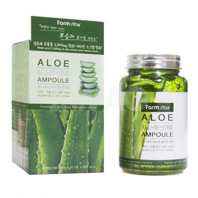 Ампульная сыворотка с экстрактом алоэ Farm Stay Aloe All-In One Ampoule - фото 4654