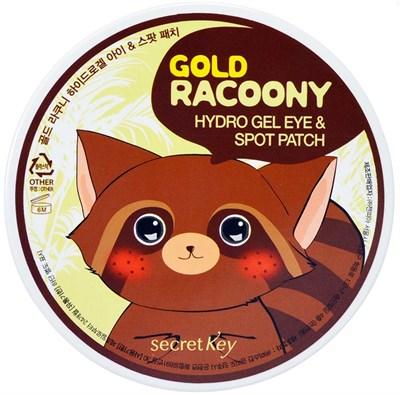 Патчи для глаз secret Key Gold Racoony Hydrogel Eye & Spot Patch 90 шт - фото 4675