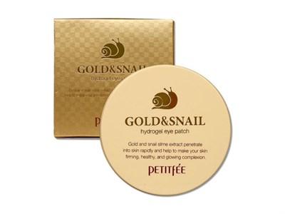 Патчи для глаз PETITFEE Hydro Gel Eye Patch Gold & Snail 60 шт - фото 4681
