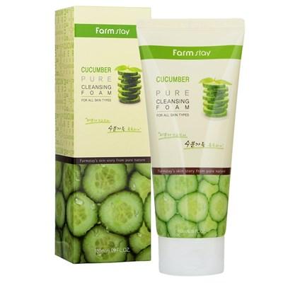 Пенка для умывания на огуречном экстракте Farm Stay Cucumber Pure Cleansing Foam - фото 4690