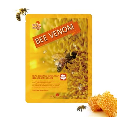 Тканевая маска с пчелиным ядом / MAY ISLAND BEE VENOM - фото 4701