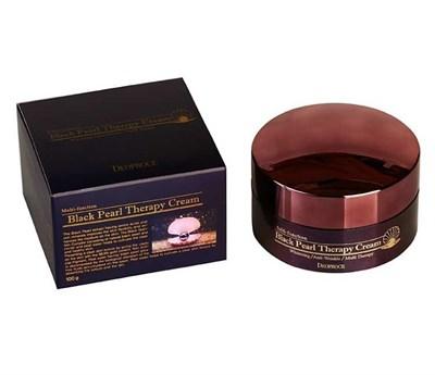 Крем черный жемчуг DEOPROCE BLACK THERAPY CREAM 100g - фото 4770
