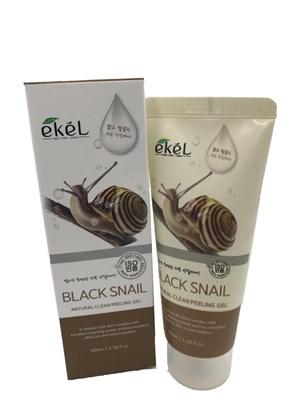 Гель-пилинг для лица Ekel Black Snail Peeling Gel с муцином черной улитки - фото 4779
