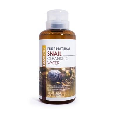 Мицеллярная вода с коллагеном Farm Stay Snail Cleansing Water 500 мл - фото 4806