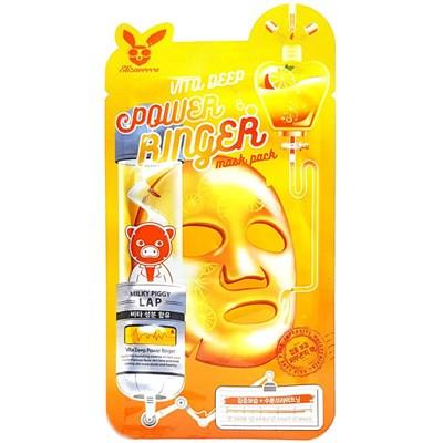 Тканевая маска д/лица с Витаминами Elizavecca VITA DEEP POWER Ringer mask pack - фото 4852