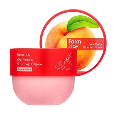 Многофункциональный крем с экстрактом персика Farm Stay Real Peach All-in-one Cream