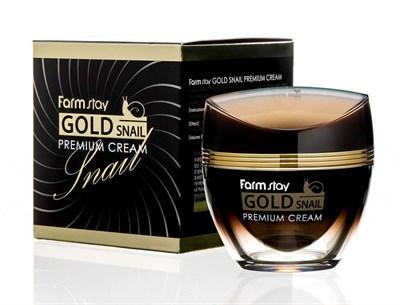 Премиальный крем для лица с золотом и муцином улитки Farm Stay Gold Snail Premium Cream - фото 5098