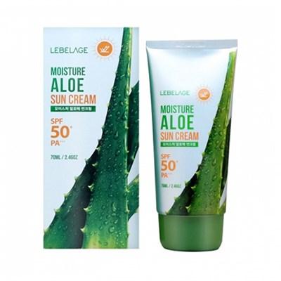 Солнцезащитный крем с экстрактом алоэ Lebelage Moisture Sun Cream Aloe SPF50+ PA+++ - фото 5114