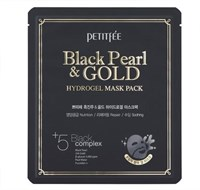 Маска для лица Petitfee Black Pearl & Gold Hydrogel Mask Pack / 5 шт