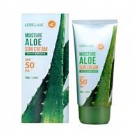 Солнцезащитный крем с экстрактом алоэ Lebelage Moisture Sun Cream Aloe SPF50+ PA+++