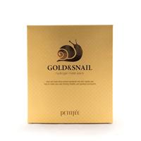 Маска гидрогелевая с коллоидным золотом и муцином улитки для лица / Hydrogel Mask Pack 5 шт