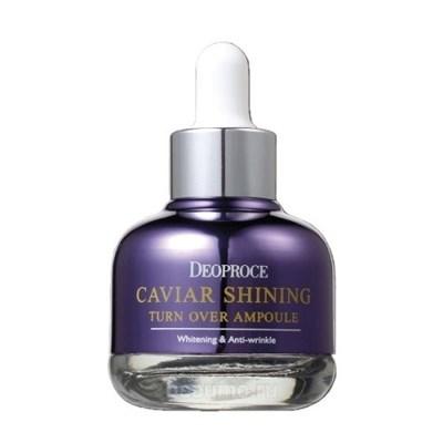 Сыворотка для лица с экстрактом икры / CAVIAR SHINING TURN OVER AMPOULE, DEOPROCE 30 мл - фото 4498