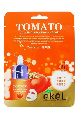 МАСКА ТКАНЕВАЯ С ЭКСТРАКТОМ ТОМАТА - EKEL TOMATO ULTRA HYDRATING MASK - фото 4542