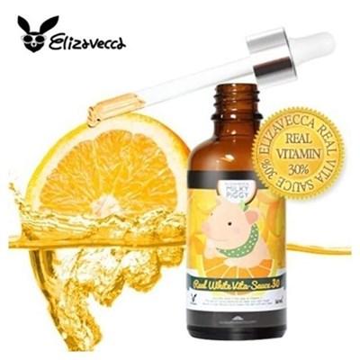 Сыворотка с витамином С 30% ELIZAVECCA MILKY PIGGY REAL WHITE VITA-SAUCE 30 - фото 4583