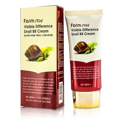 Крем ББ восстанавливающий улиточный Farm Stay Visible Difference Snail BB Cream 50 гр - фото 4591