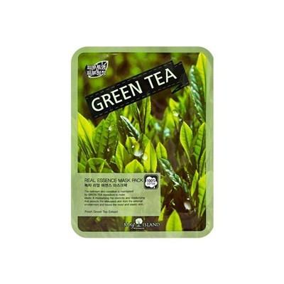 Тканевая маска с экстрактом зелёного чая May Island Real essence Mask Green Tea - фото 4600