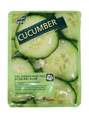 Тканевая маска с экстрактом Огурца / May Island Real essence Mask Pack Cucumber - фото 4602