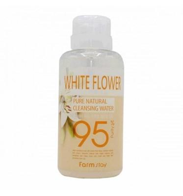 Очищающая вода Farm Stay с экстрактом белых цветов 500 мл - фото 4633