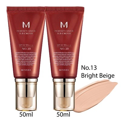 BB крем MISSHA M Perfect Cover BB Cream 13 Milk Beige 50 мл - фото 4659