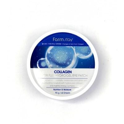 Патчи для глаз Farm Stay Collagen Water Full Hydrogel Eye Patch - фото 4679