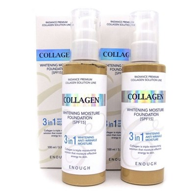 Collagen WHITENING MOISTURE FOUNDATION 3 IN 1 - тон 21 - фото 4685