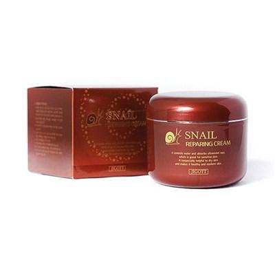 Крем для лица Восстанавливающий с экстрактом улитки Jigott Snail Repair Cream - фото 4710