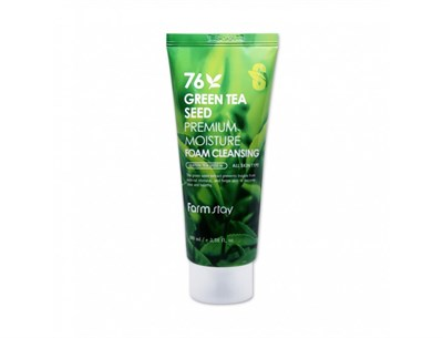 Очищающая пенка на основе зеленого чая Farm Stay Green Tea Seed Premium Moisture Foam - фото 4725