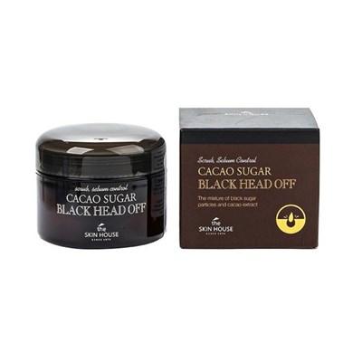 Скраб против черных точек с коричневым сахаром и какао THE SKIN HOUSE СACAO SUGAR BLACK HEAD OUT 50 мл - фото 4727