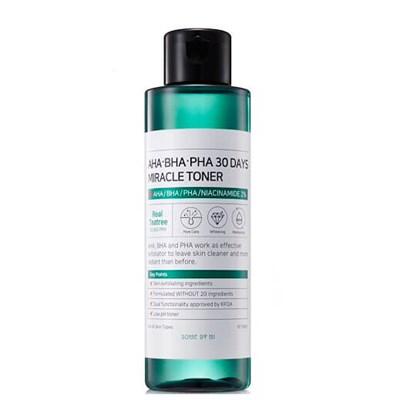 Кислотный очищающий тонер для проблемной кожи Some By Mi AHA-BHA-PHA 30 Days Miracle Toner - фото 4733