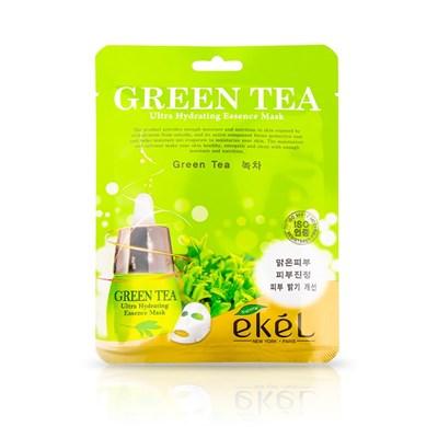 Противовоспалительная и себорегулирующая тканевая маска с экстрактом зеленого чая - Ekel Green Tea Ultra Hydrating Mask - фото 4741