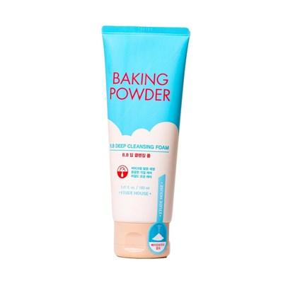 Очищающая пенка для снятия BB-крема с содой Etude House Baking Powder BB Deep Cleansing Foam, 160 ml - фото 4747