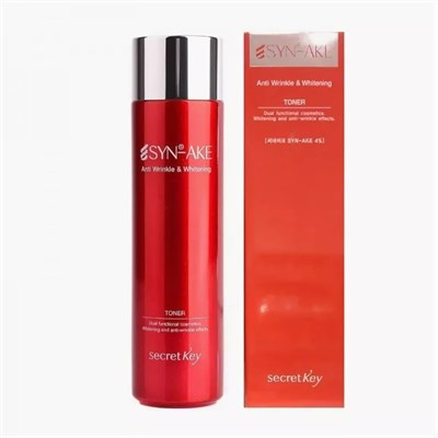 Тонер для лица Secret Key Syn-ake Anti-wrinkle & Whitening Toner - фото 4768