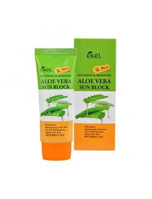 Солнцезащитный крем для лица и тела c Алоэ Вера Ekel Soothing & Moisture Aloe Vera Sun Block SPF - фото 4773