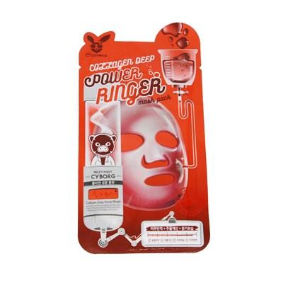 Тканевая маска для лица с Коллагеном Elizavecca COLLAGEN DEEP POWER Ringer mask pack - фото 4849