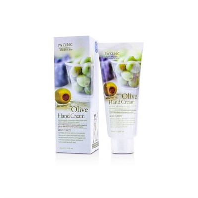 3W CLINIC Крем для рук увлажняющий с экстрактом ОЛИВЫ Olive Hand Cream 100 мл - фото 4882