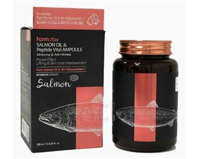 Ампульная сыворотка с маслом лосося и пептидами FarmStay Salmon Oil &peptide Vital Ampoule - фото 4911