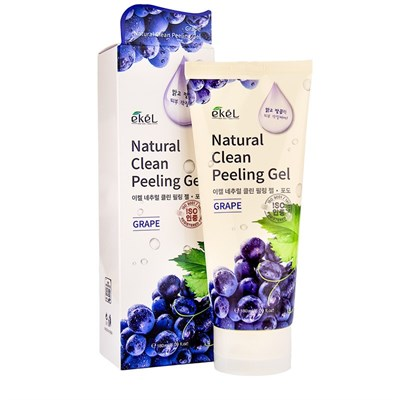 Пилинг с экстрактом винограда Ekel Natural Clean Peeling Gel Grape 180 мл - фото 4919