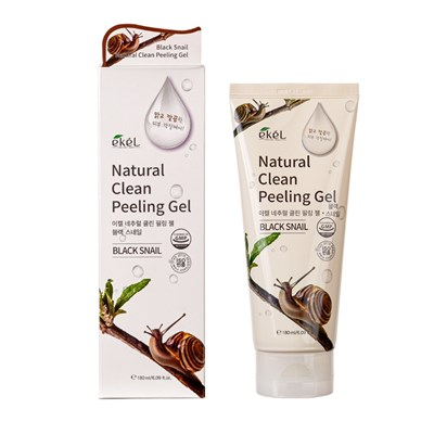 Пилинг-скатка для лица с экстрактом муцина черной улитки EKEL NATURAL CLEAN Peeling Gel Black Snail 180 мл - фото 4920