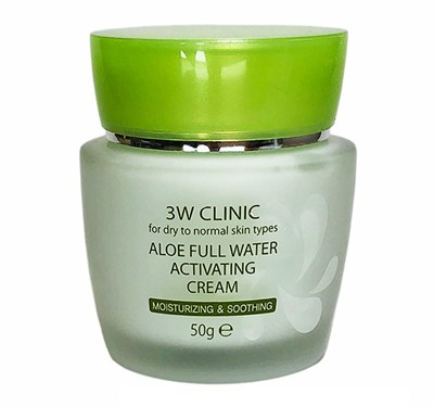 Крем для лица 3W CLINIC Aloe Full Water Activating 50 гр - фото 4955
