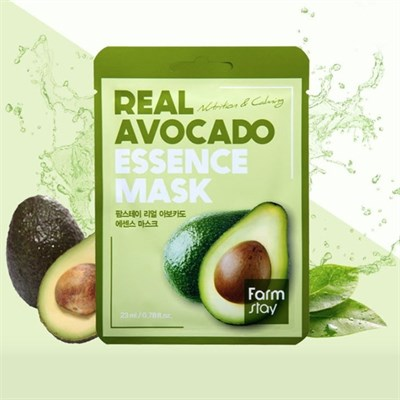 Тканевая маска с авокадо Farm Stay Real Avocado Essence Mask