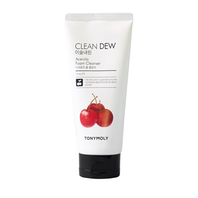 Пенка с экстрактом ацеролы Tony Moly Clean Dew Acerola Foam Cleanser