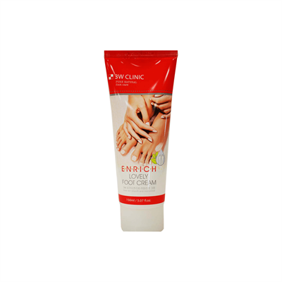 Крем для ног 3W Clinic Enrich Lovely Foot Treatment - фото 5099