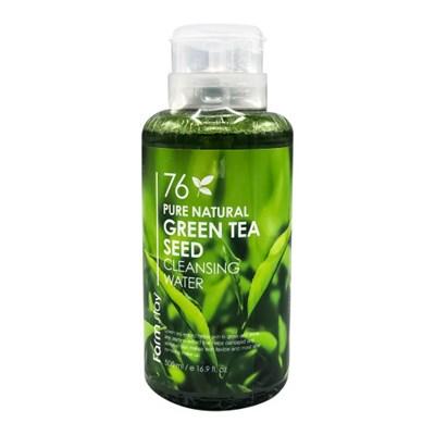 Очищающая вода с зеленым чаем Farm Stay Pure Natural Cleansing Water Green Tea - фото 5124
