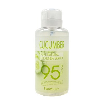 Очищающая вода с экстрактом огурца Farm Stay Cucumber Pure Cleansing Water - фото 5125