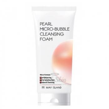 Пенка для умывания с жемчугом May Island Pearl Micro-Bubble Cleansing Foam - фото 5149