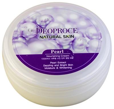 Крем для лица и тела с экстрактом жемчуга Deoproce Natural Skin Pearl Nourishing - фото 5173